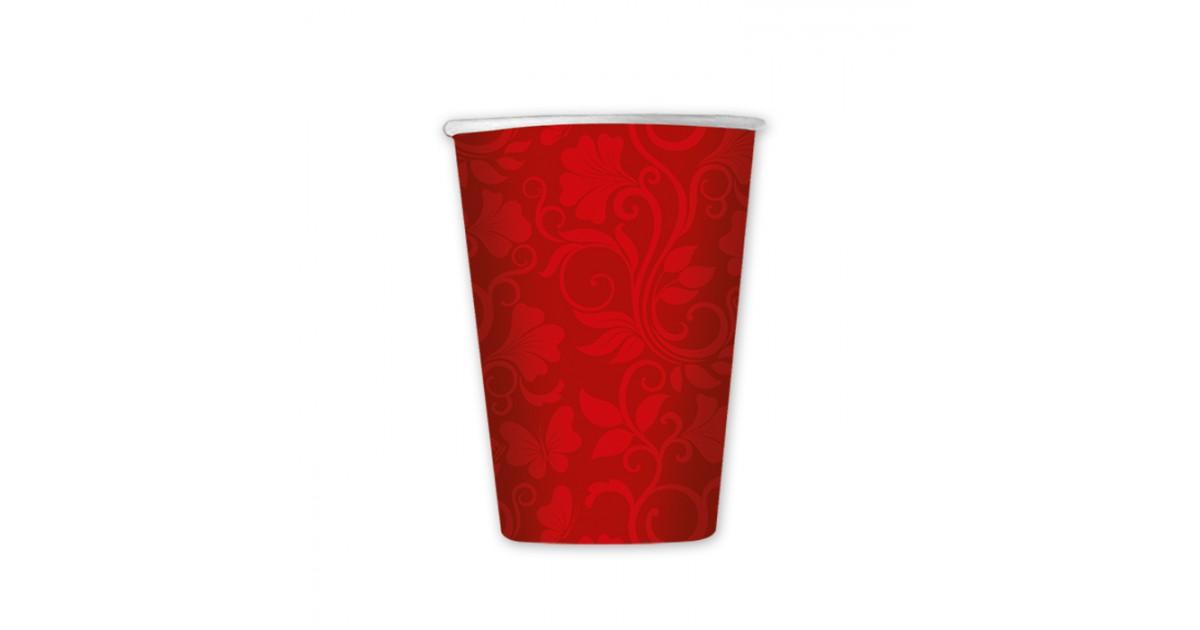 8 Bicchieri cc.200 Celebrity Rosso