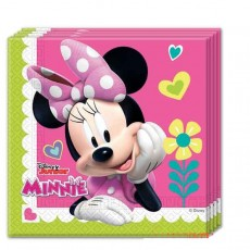 Tovaglioli minnie happy helpers  cm 33x33  pz.20