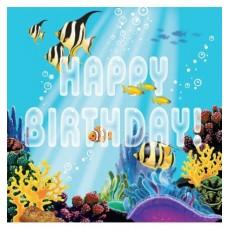 Tovaglioli Ocean Party 33x33 cm , confezione da 20 pezzi
