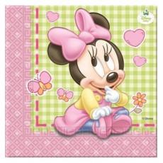 Tovagliolo Minnie Baby, 33x33 cm, 20 pz.
