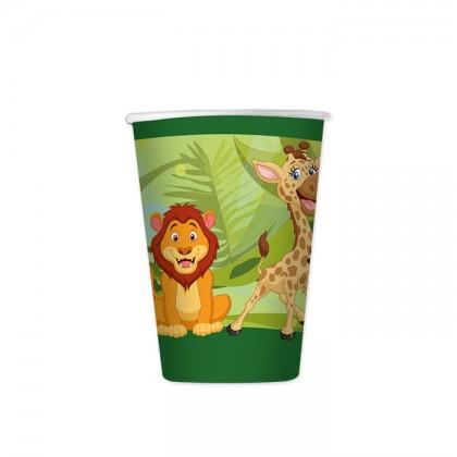 Bicchieri di carta animali giungla cc.200 Pz.8