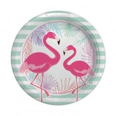 Piatti Flamingo Party 18 cm – 8 pezzi