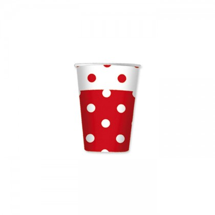 Bicchieri Pois Rosso cc.80 Pz.10